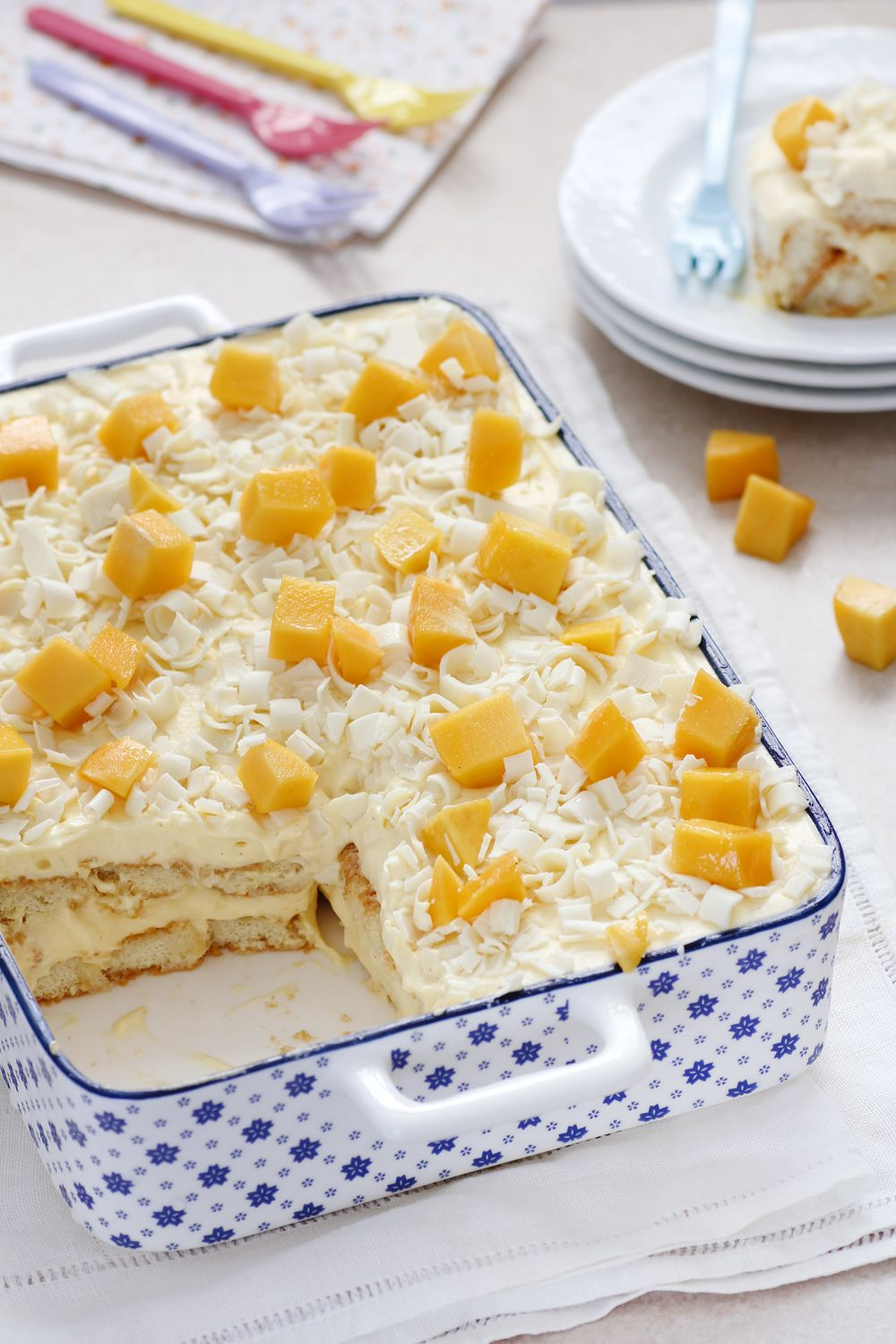 Mango Tiramisu with White Chocolate