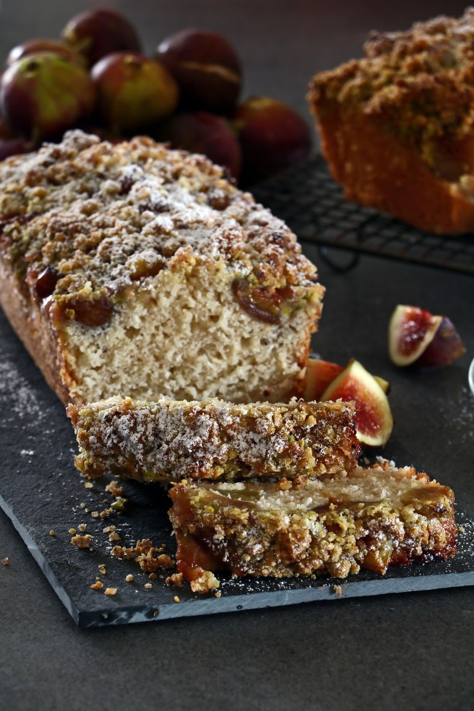 Fig Cake with Pistachio Streusel