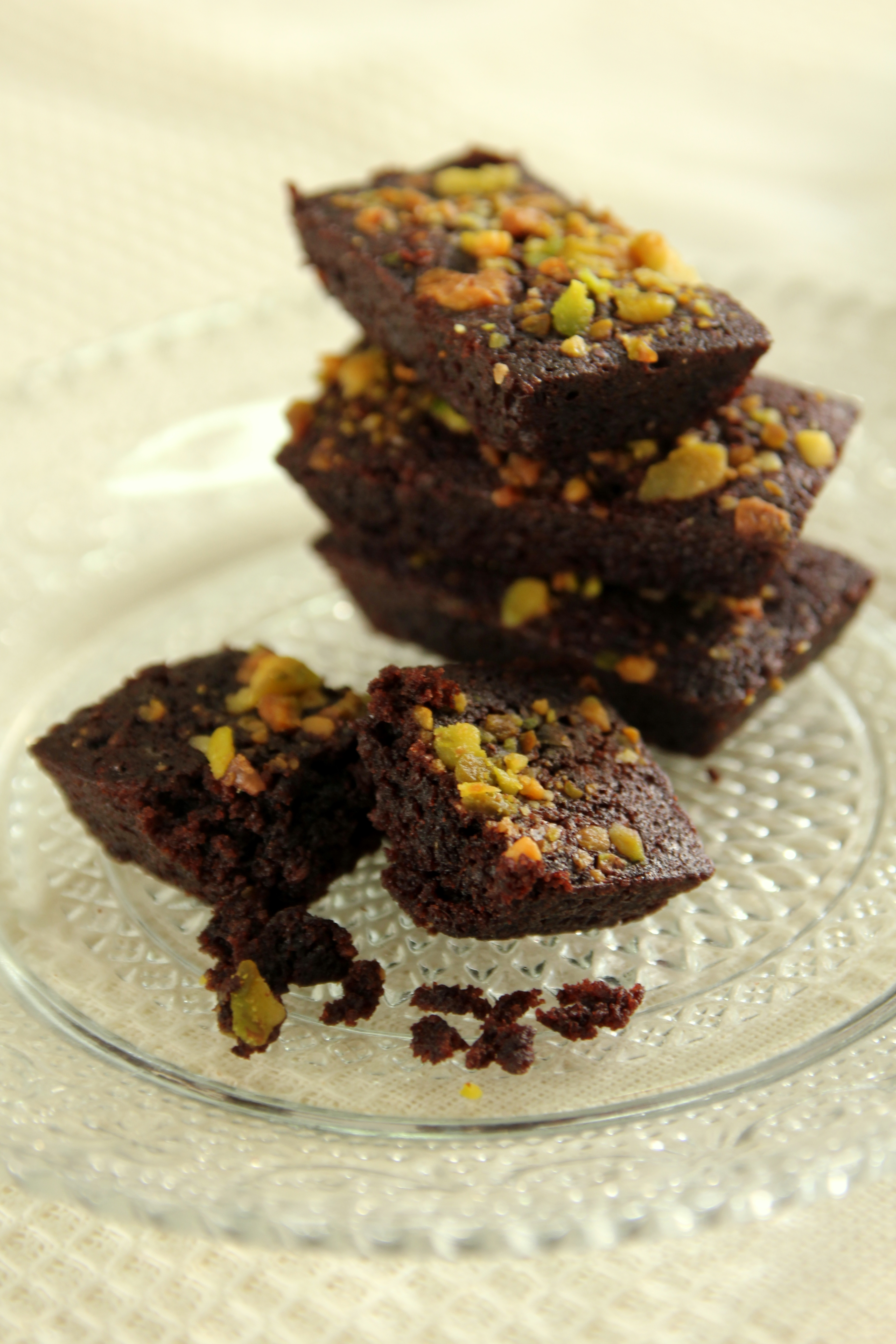Chocolate Financiers with Pistachios