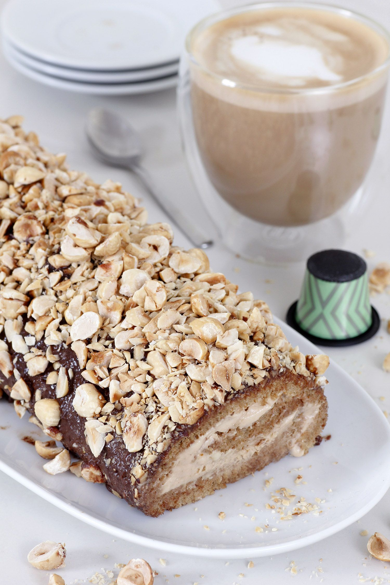 Hazelnuts Coffee Cake Roll