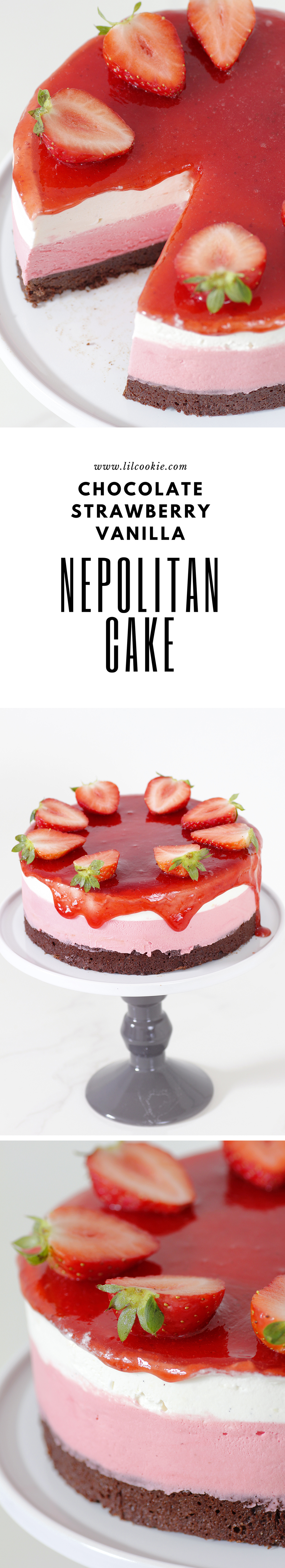Nepolitan Mousse Cake #Chocolate #Cake #Strawberry #Whitechocolate #glutenfree #valentinesday #christmas