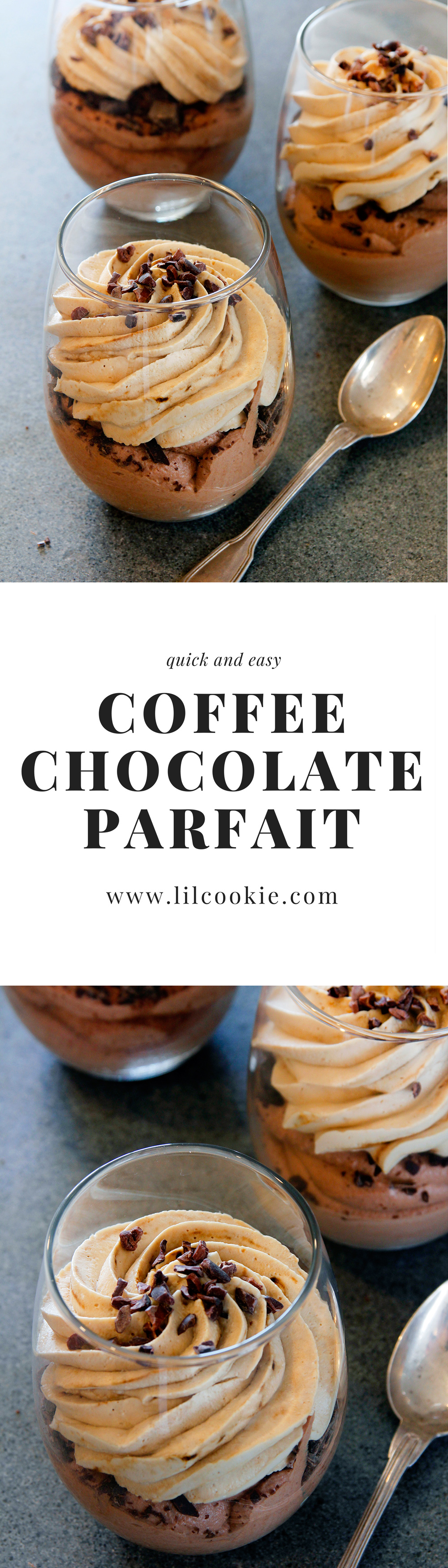Coffee Chocolate Parfait Lil Cookie