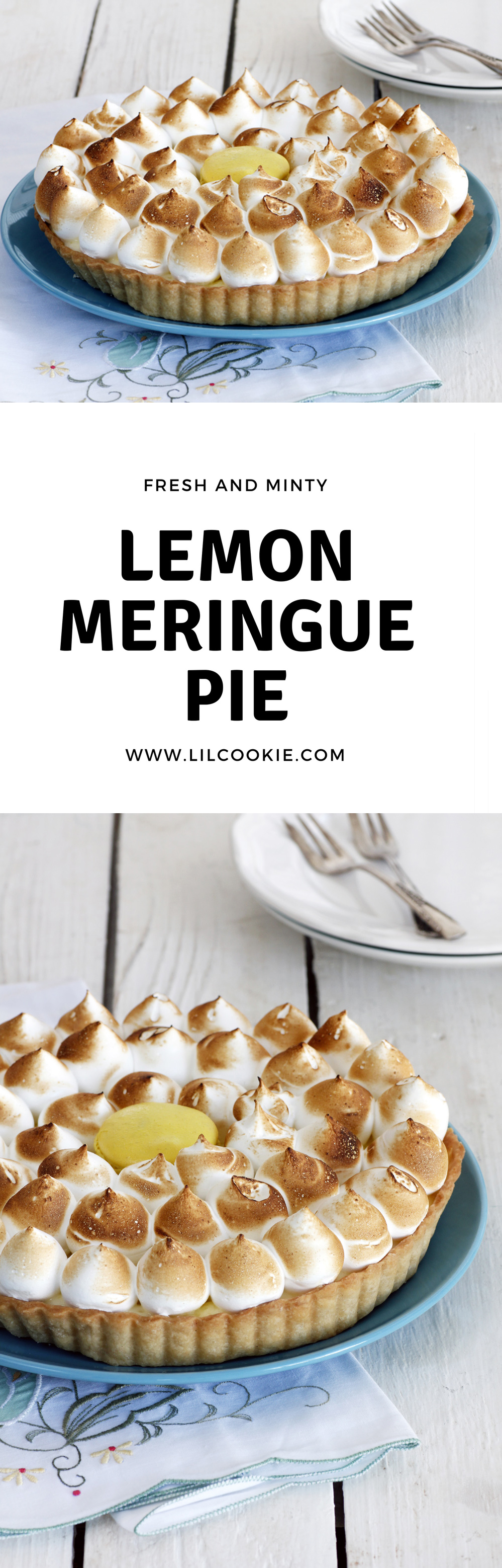 Minty Lemon Meringue Pie