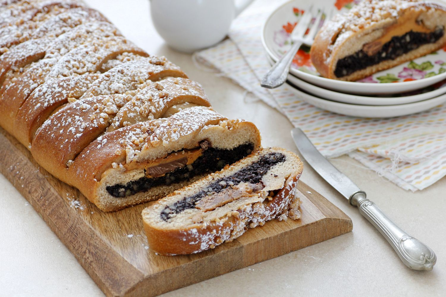 Poppy Seeds Babka Braid with Chocolate and Peanut Butter