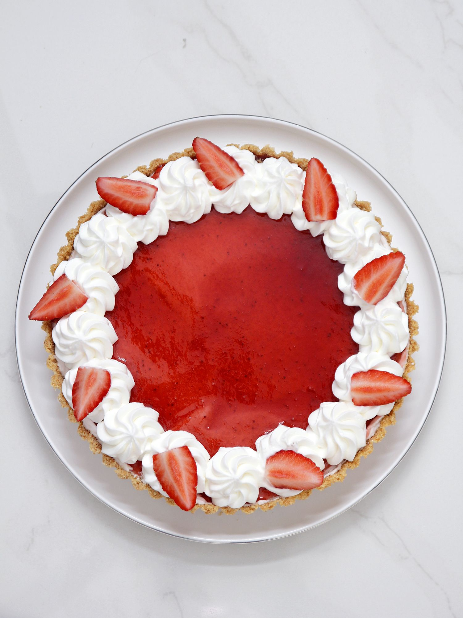 White Chocolate Strawberry Tart