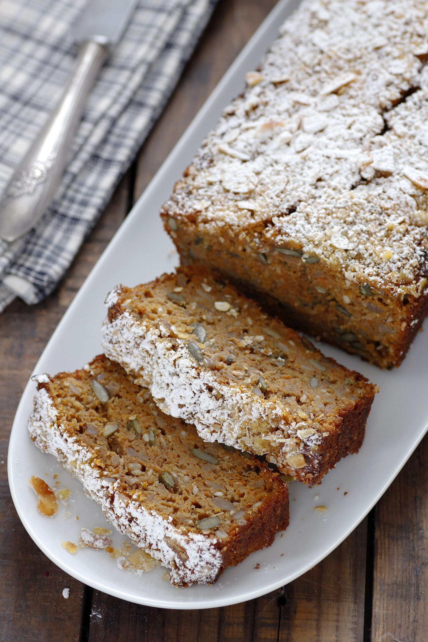 Carrot Bread with Coconut and Oats