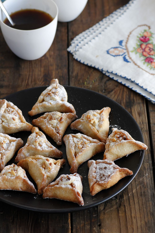 Hazelnuts and Tahini Hamantaschen Cookies