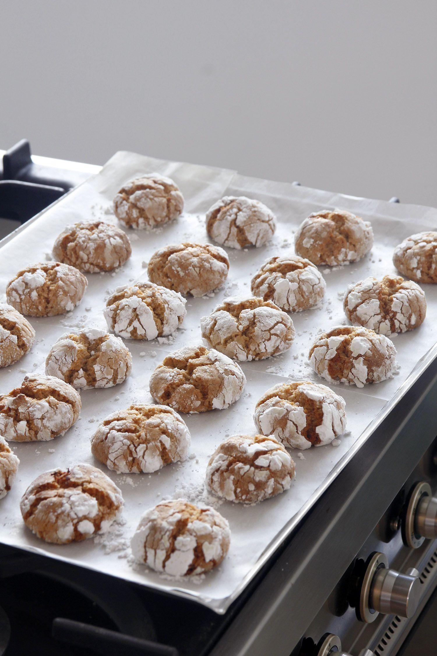 Almond Crinkle Cookies