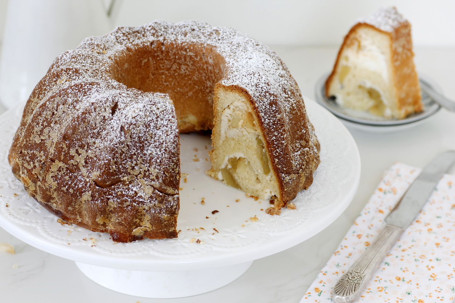 Ricotta Babka with Caramelized Apples