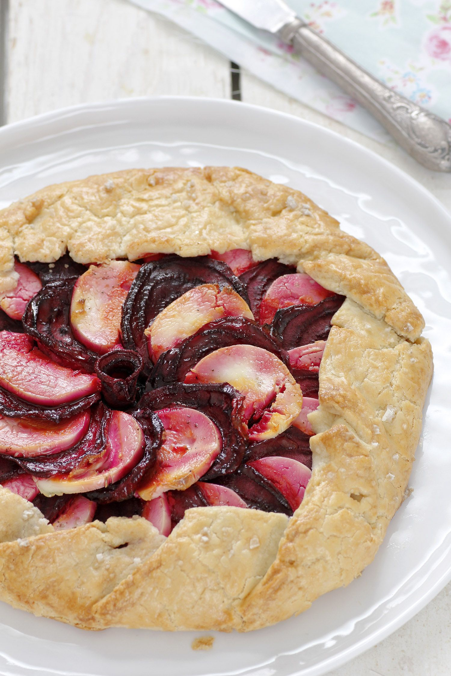 Beet and Goat Cheese Galette