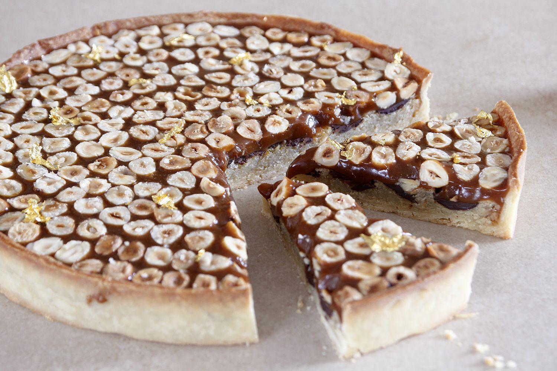 Hazelnut Caramel Tart with Chocolate