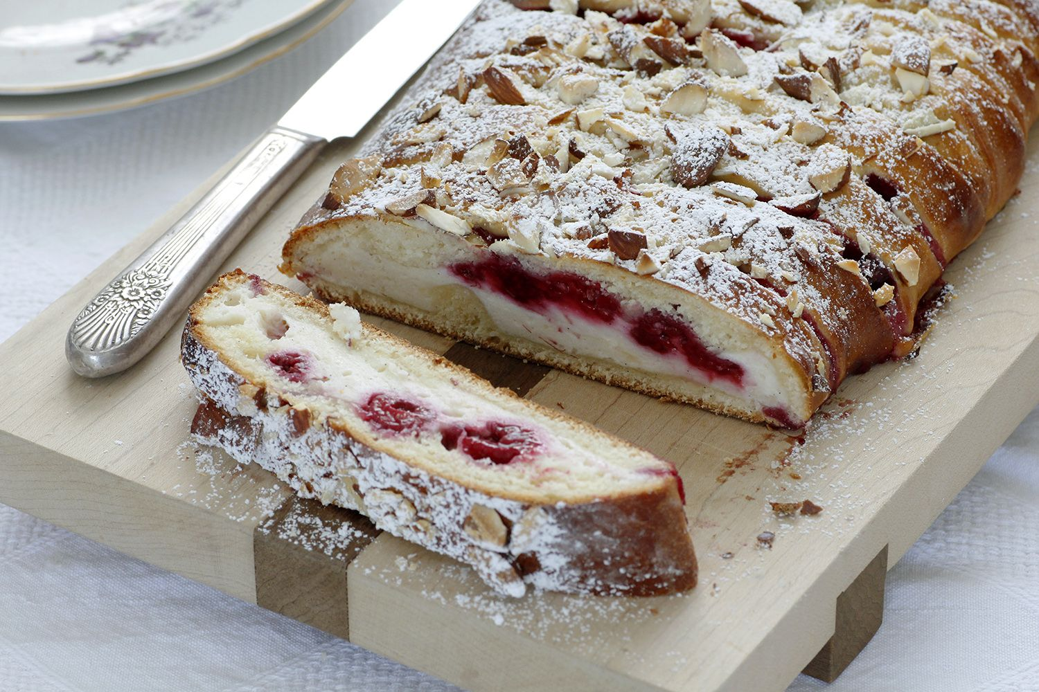 Cheese and Raspberry Braid