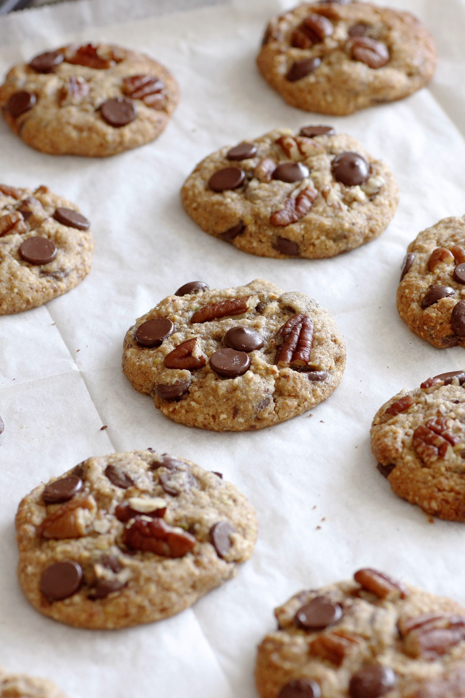 Pecan Cookies with Chocolate Chips