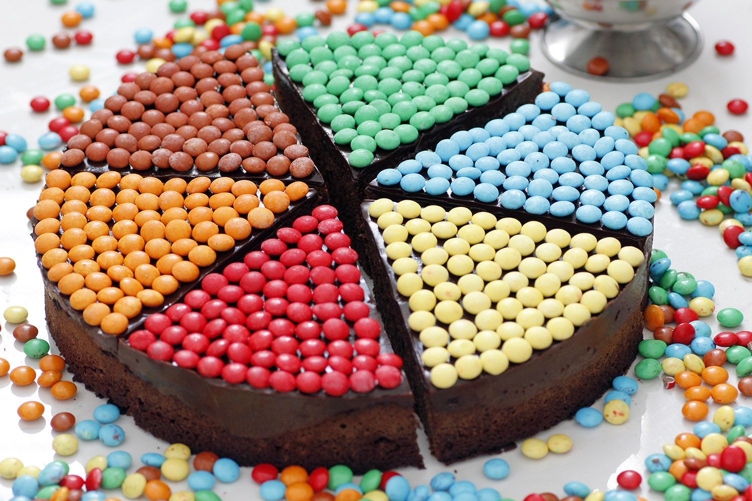 Colorful Birthday Chocolate Cake