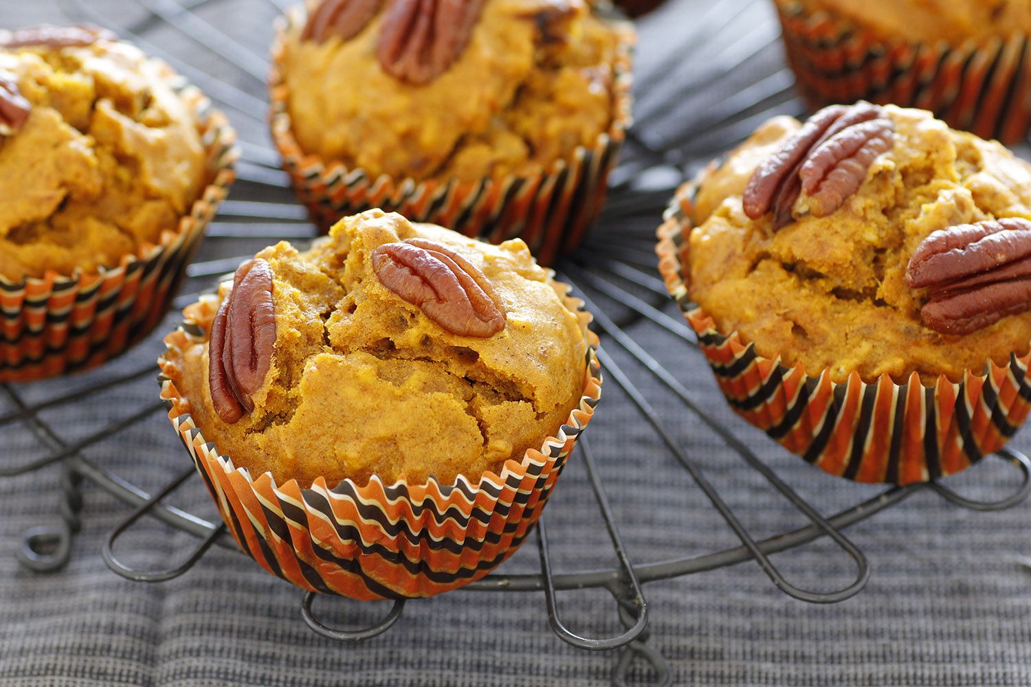 Pumpkin Muffins with Pecans